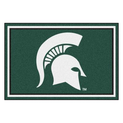 NCAA - Michigan State University Green 8 ft. x 5 ft. Indoor Area Rug
