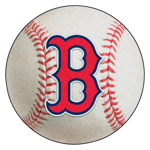 MLB Boston Red Sox Photorealistic 27 in. Round Baseball Mat