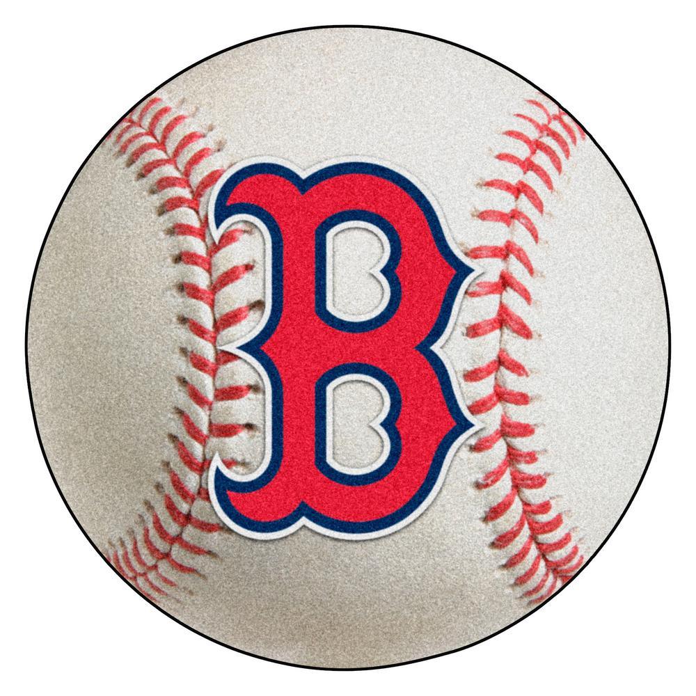 MLB Boston Red Sox Photorealistic 27 in. Round Baseball Mat