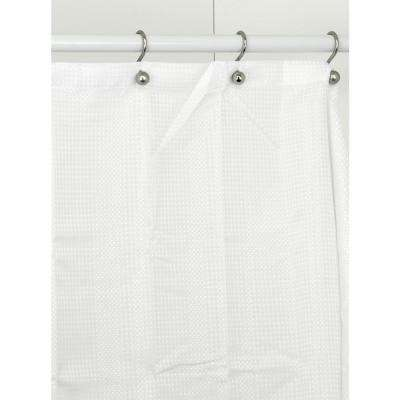 70 in. White Shower Curtain