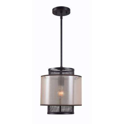 Alessandra 1-Light Bronze Mini Pendant