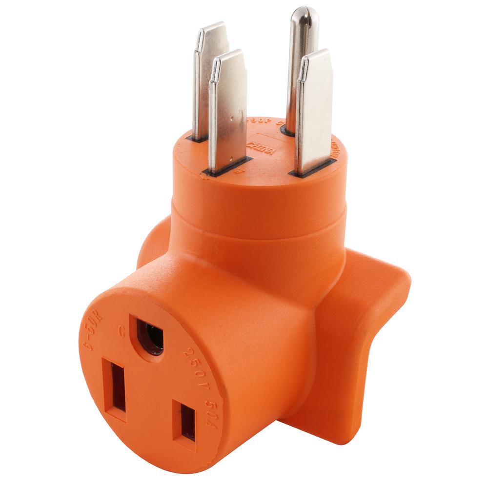 50 Amp RV/Range/Generator 14-50 Plug to 6-50R 50 Amp 250-Volt Welder Adapter