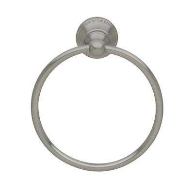 Edgewater Towel Ring in Satin Nickel