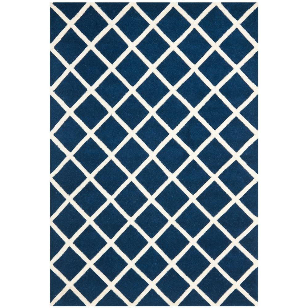 Safavieh Chatham Dark Blue/Ivory 4 ft. x 6 ft. Area Rug