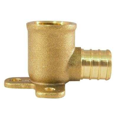 3/4 in. Brass PEX Barb x 1/2 in. Female Pipe Thread Adapter 90-Degree Drop-Ear Elbow