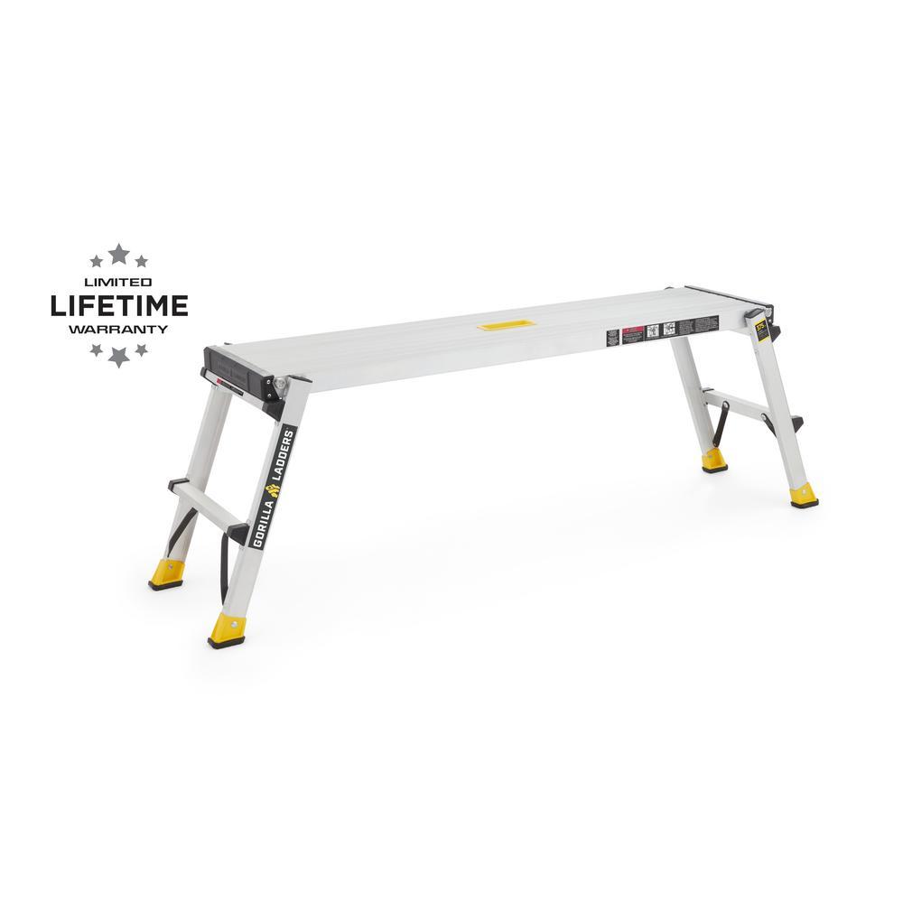 4.25 ft. x 1.67 ft. x 1 ft. Aluminum Heavy-Duty PRO Slim-Fold Work Platform, 375 lbs. Load Capacity