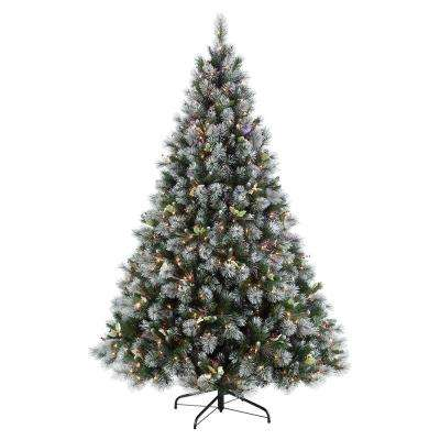 4.5 ft. Pre-Lit Incandescent Winter Wonderland Artificial Christmas Tree with 250 UL-Listed Clear Lights