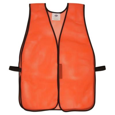 Orange Mesh High Visibility Safety Vest (One Size Fits All)