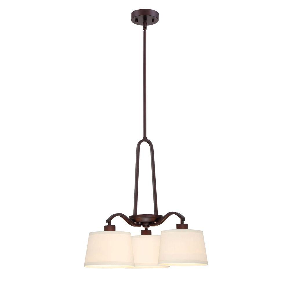 DesignersFountain Designers Fountain Studio 3-Light Satin Bronze Interior Chandelier