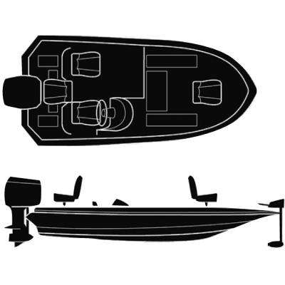 90 in. Beam Semi-Custom Boat Cover for Wide Bass Boats