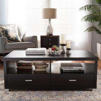 Derwent Contemporary Dark Brown Wood Coffee Table