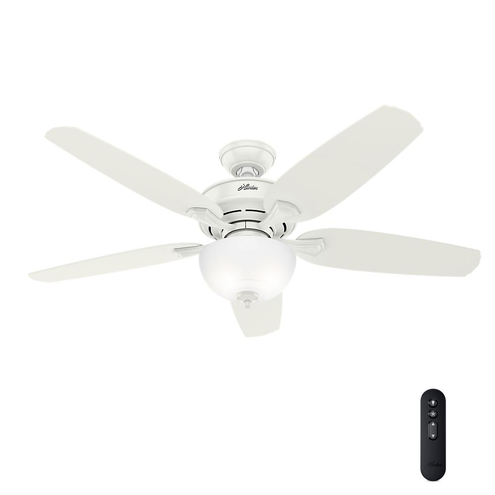 Hunter channing 54 in led indoor easy install fresh white ceiling led indoor easy install fresh white ceiling fan with hunterexpress feature aloadofball Choice Image
