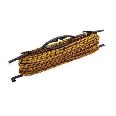 1/4 in. x 100 ft. Yellow and Black Diamond Braid Polypropylene Rope with Winder