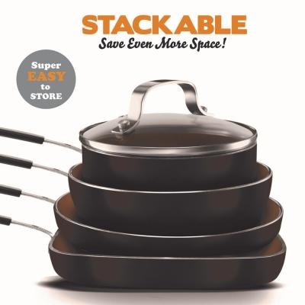 5-Piece Gotham Steel Stackmaster Mini Single-Serve Cookware Set