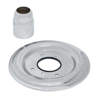 Bath/Shower Escutcheon Kit, Polished Chrome