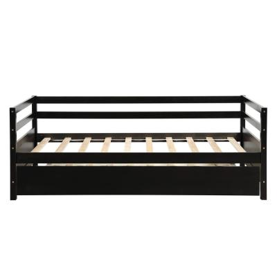 76-in H Daybed with Trundle Frame Set, Twin Size Espresso