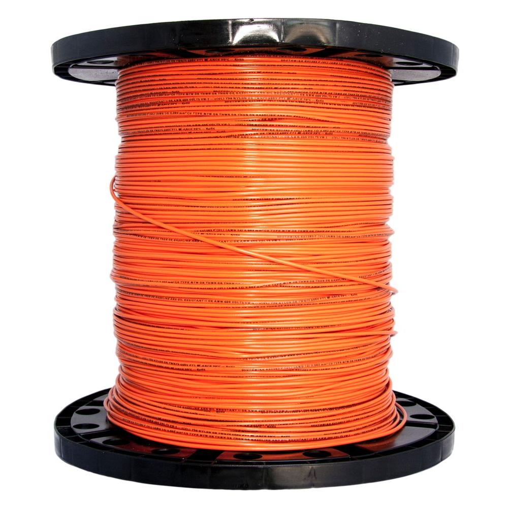 Southwire 2500 ft. 14 Orange Stranded CU THHN Wire