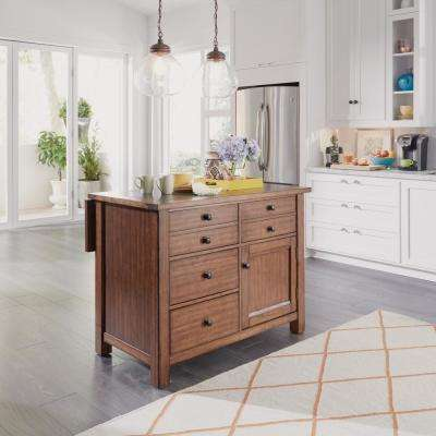 Tahoe Aged Maple Kitchen Island with Granite Top