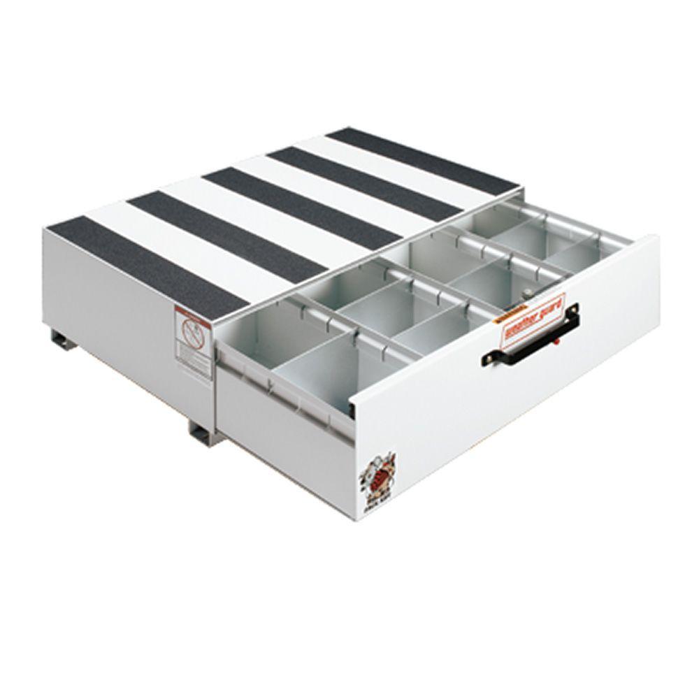 40.5 in. Steel Pack Rat Drawer Unit in Brite White