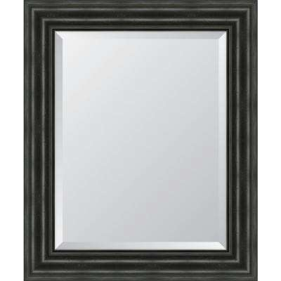 30 in. x 36 in. Framed 4 in. Black English Pine Resin Frame Mirror