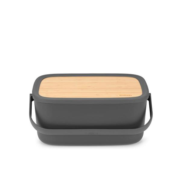 Nic Dark Gray Bread Box