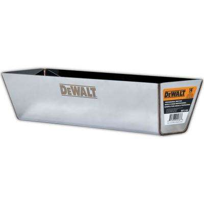 14 in. Stainless Steel Mud Pan with Curved Bottom
