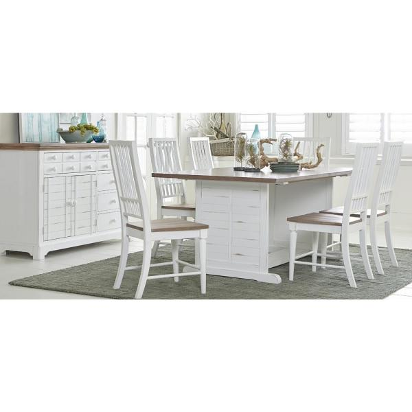 distressed white dining room furniture | Progressive Furniture Shutters Light Oak/Distressed White ...