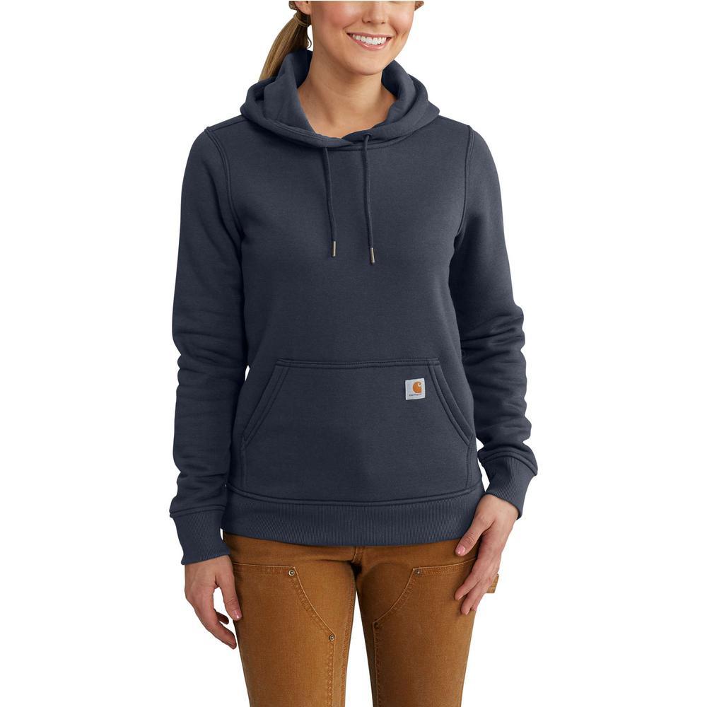 054fb8b9 Carhartt Women's Medium Navy Cotton/Polyester Clarksburg Pullover Sweat  Shirt