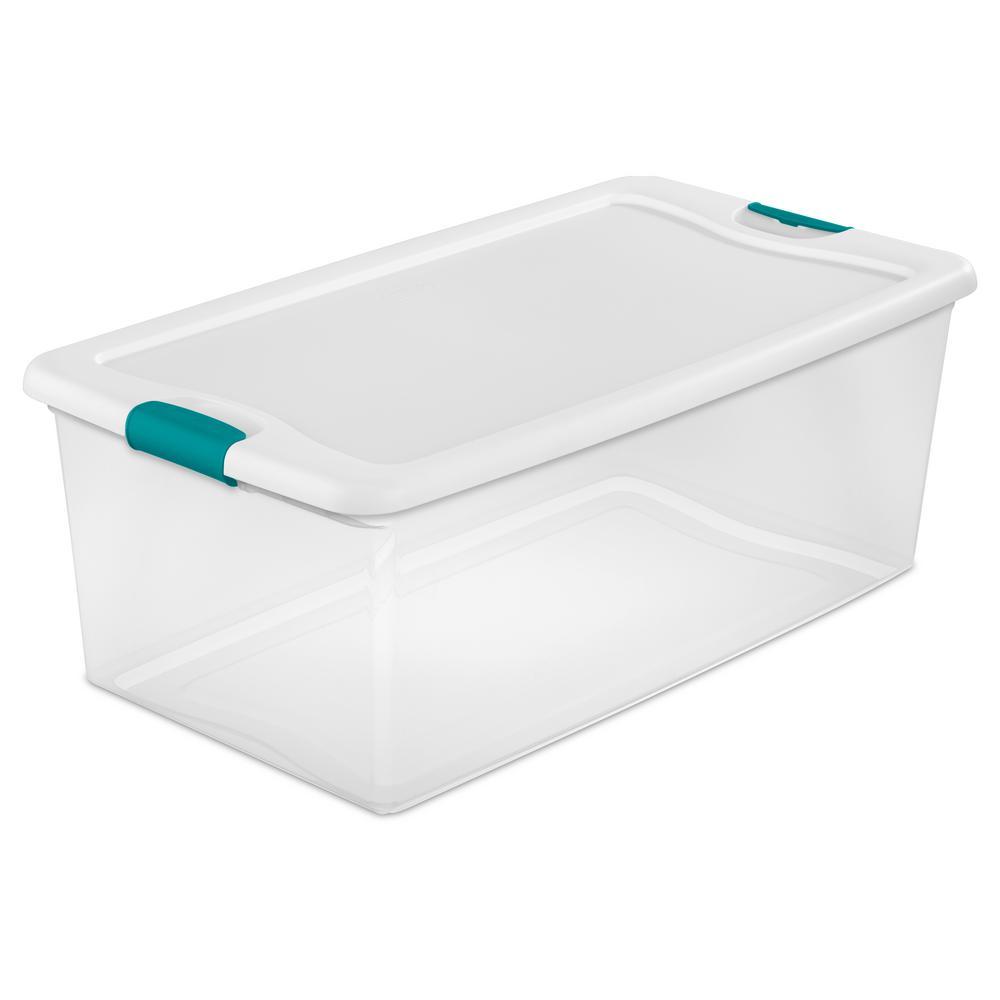 Sterilite 106 Qt  Latching Storage Box – Home Depot