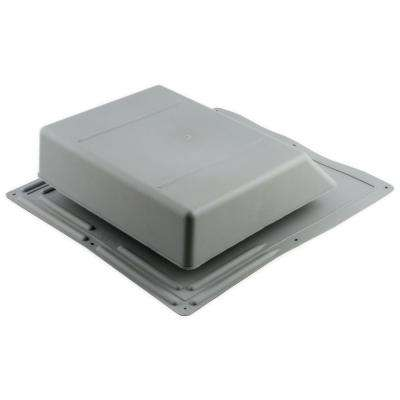 61 sq. in. NFA Plastic Slant-Back Roof Louver Static Vent in Gray (Sold in Carton of 6 only)