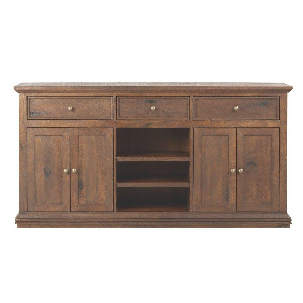 Home Decorators Collection Aldridge Antique Walnut Buffet - Home Decorators Collection Aldridge Antique Walnut Buffet