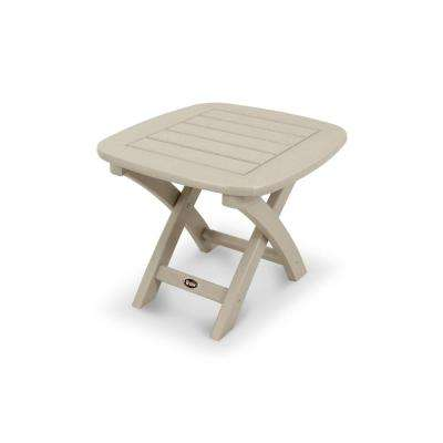 Yacht Club 21 in. x 18 in. Sand Castle Patio Side Table