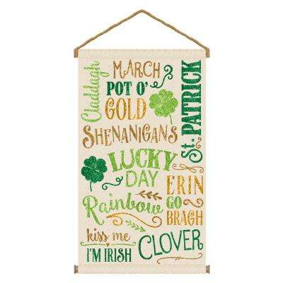 31.5 in. St. Patrick's Day Large Canvas Hanging Sign (2-Pack)