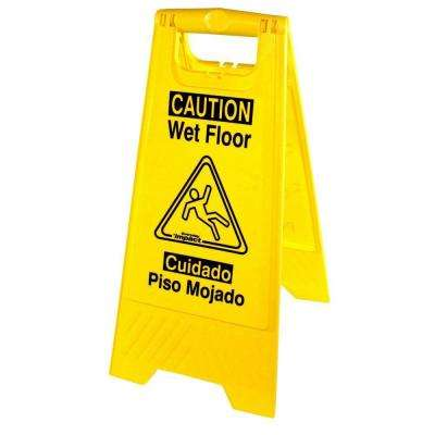 Universal Graphic Yellow Wet Floor Sign