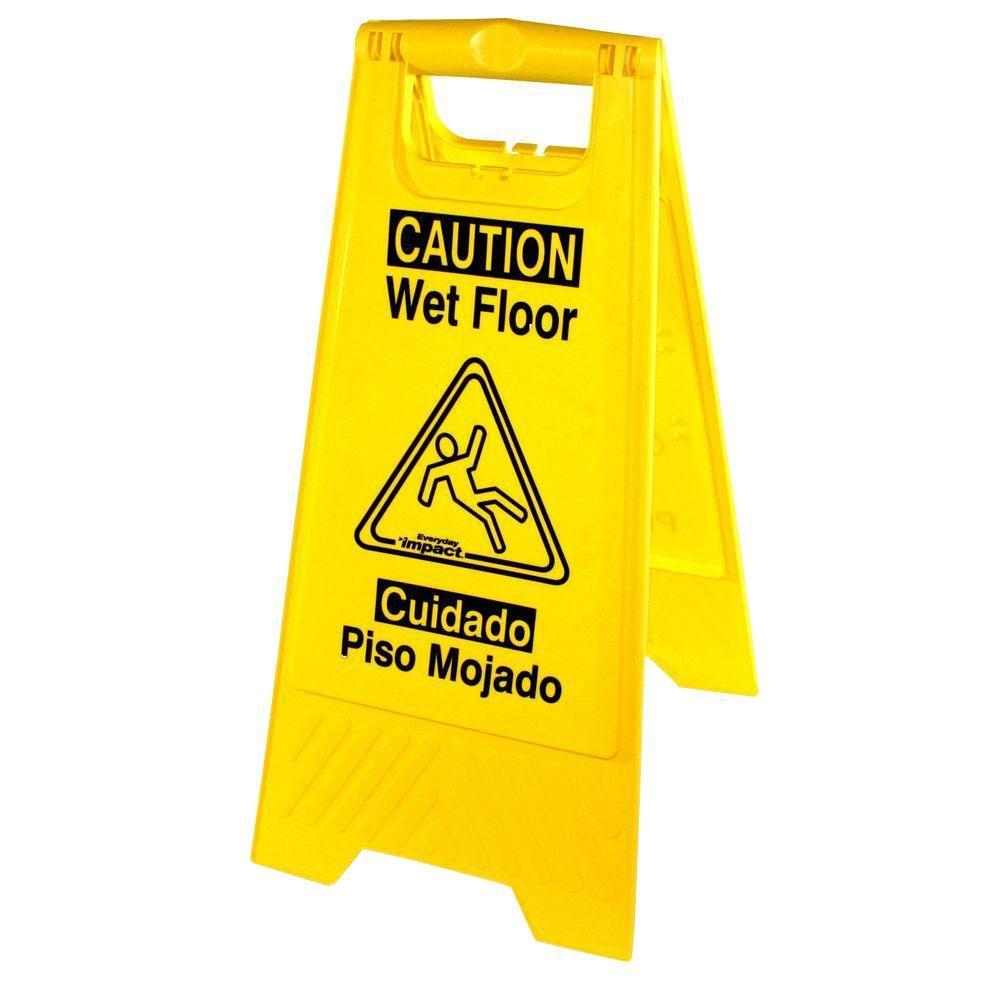 Universal Graphic Yellow Wet Floor Sign