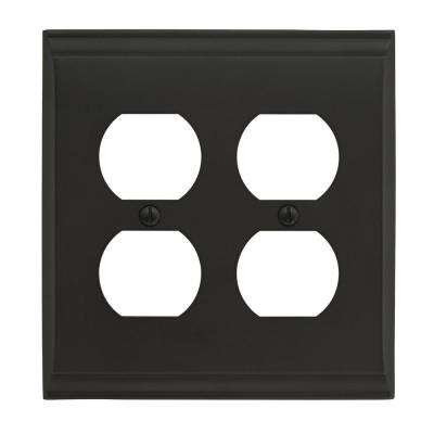 Candler 2 Receptacle Black Bronze Wall Plate