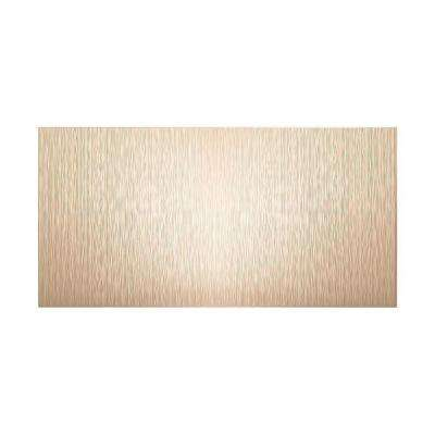 Ripple Vertical 96 in. x 48 in. Decorative Wall Panel in Almond