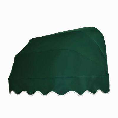 3 ft. Georgia Retractable Elongated Dome Awning (31 in. H x 24 in. D) in Forest