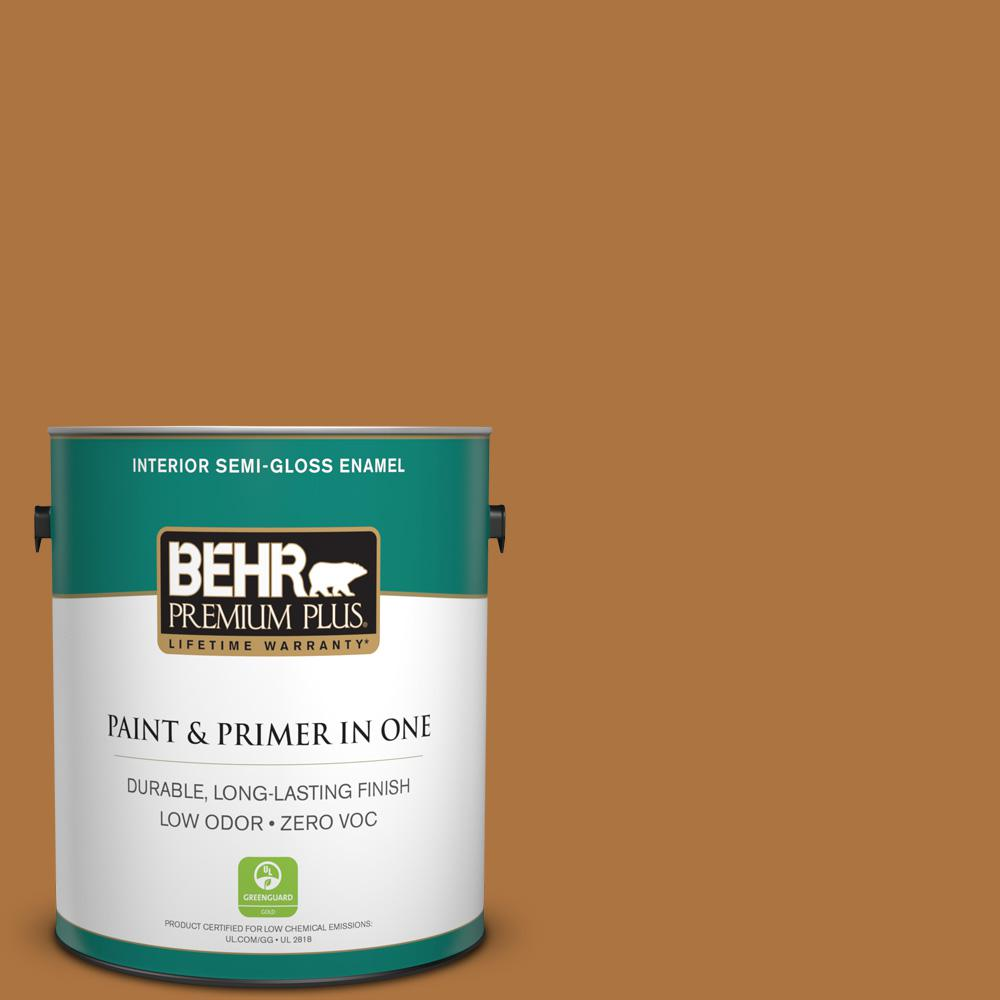 BEHR Premium Plus 1-gal. #M250-7 Blonde Wood Semi-Gloss Enamel Interior Paint