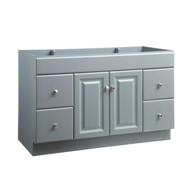 Wyndham 48 in. W x 21 in. D Ready to Assemble Bath Vanity Cabinet Only in Gray