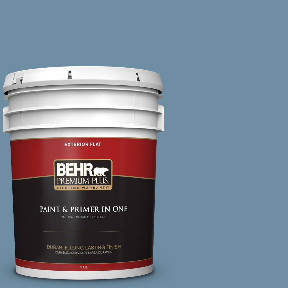 5 gal. #PPU14-04 French Court Flat Exterior Paint