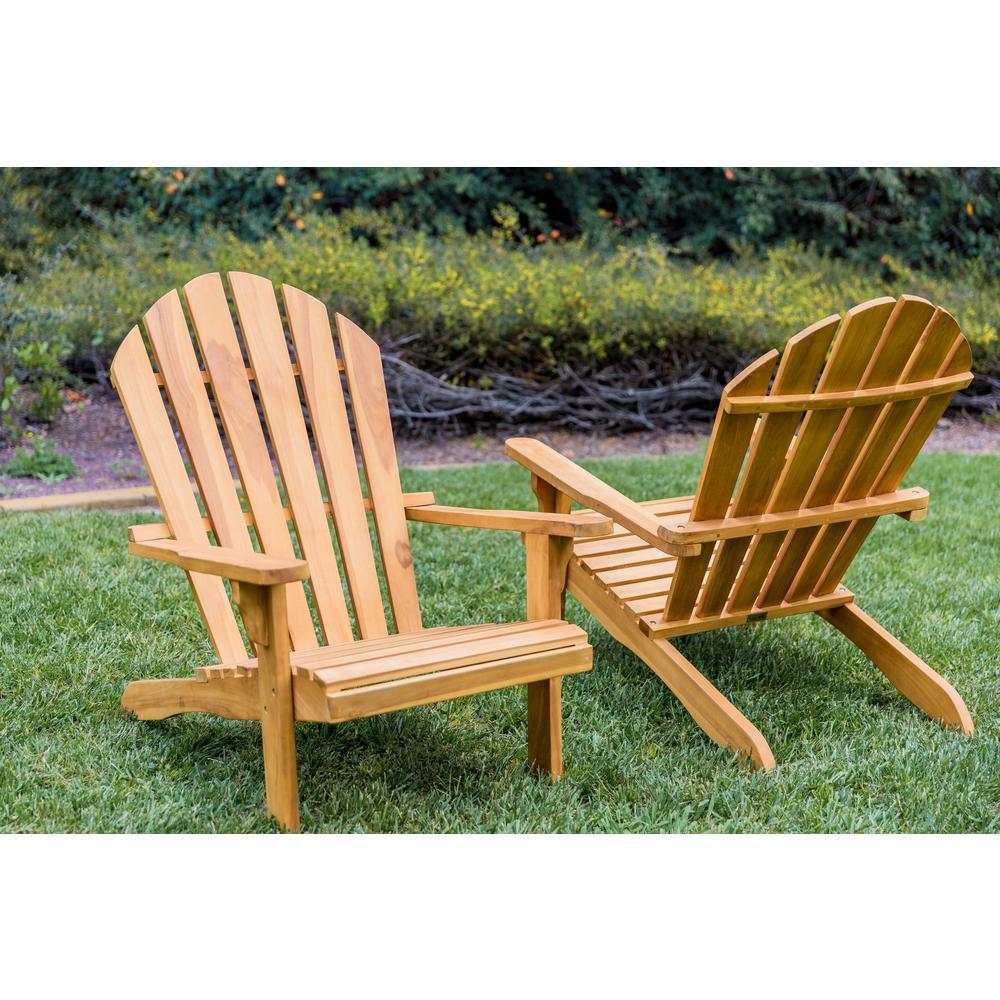 LuXeo Redondo Teak Wood Adirondack Chair (2-Pack)