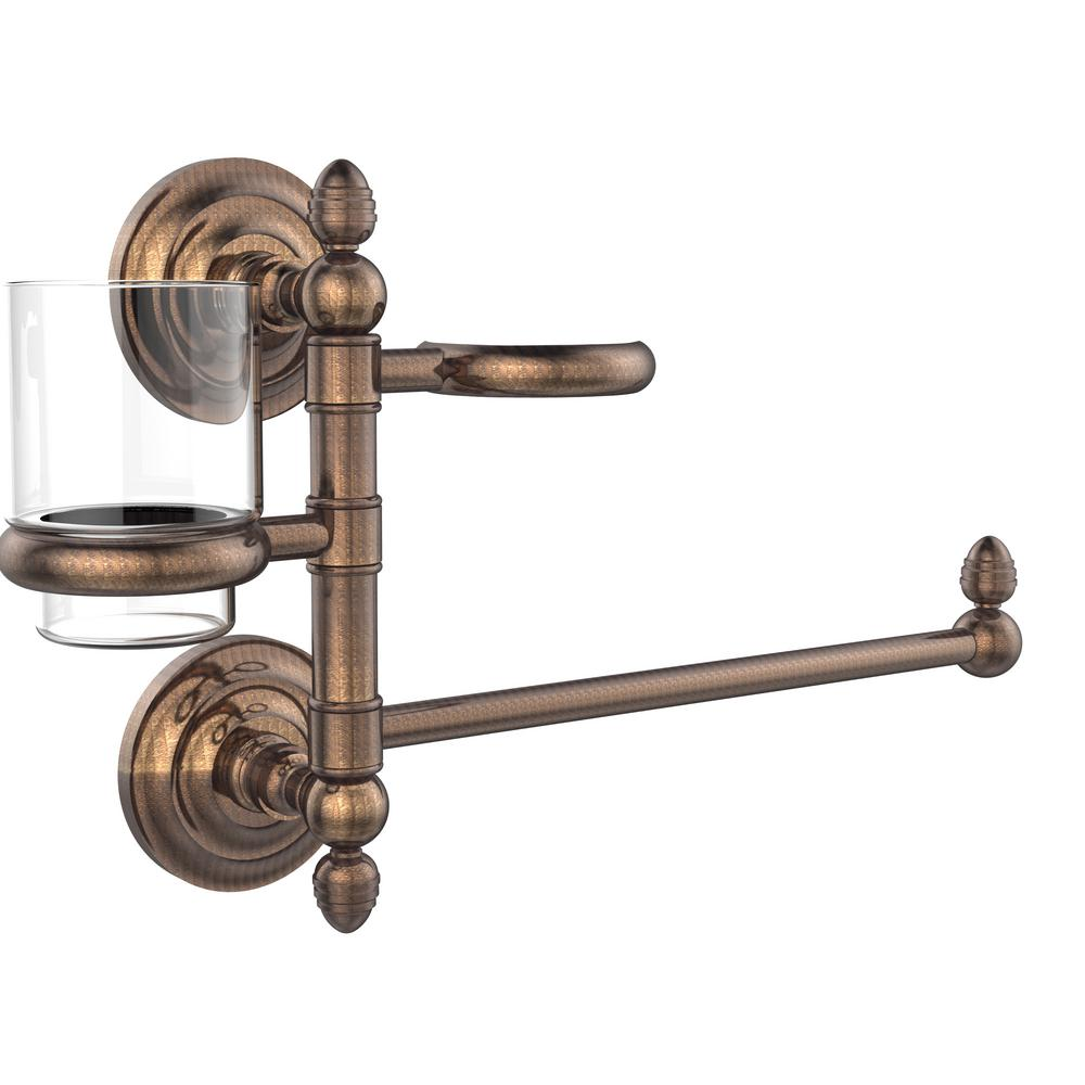 Allied Brass Que New Collection Hair Dryer Holder and Organizer in Venetian Bronze
