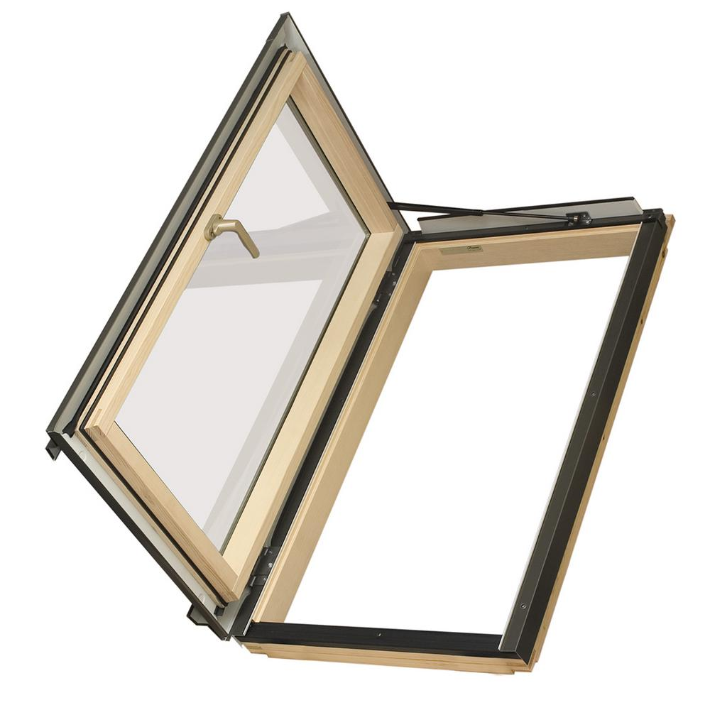 Fakro Egress Window 22-1/2 in. x 37-1/2 in. Venting Roof Access Skylight with Tempered Glass, LowE