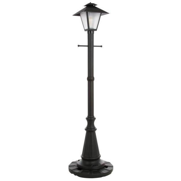 Patio Living Concepts Cape Cod Black Outdoor Plug In Post Lantern Patio 67000 The Home Depot