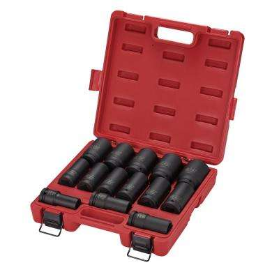 3/4 in. Drive Deep Impact SAE Socket Set (14-Piece)