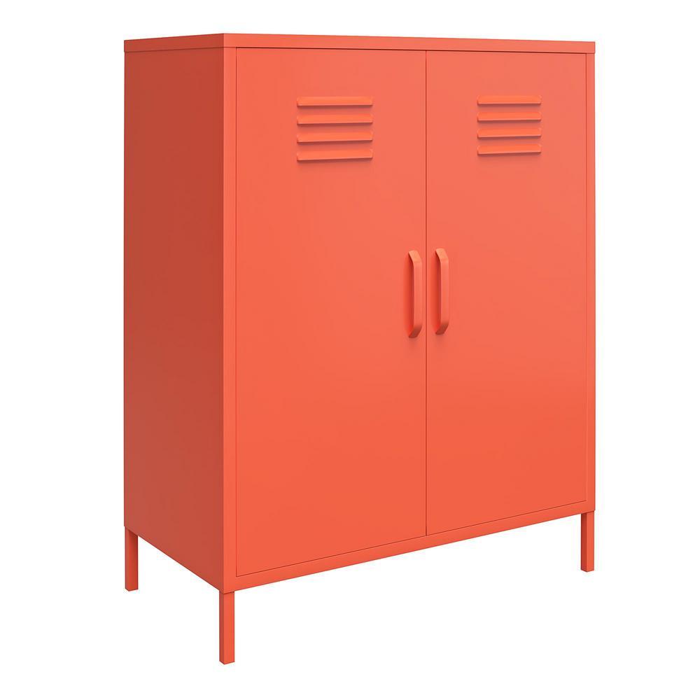 Cache Orange 2-Door Metal Locker Storage Cabinet