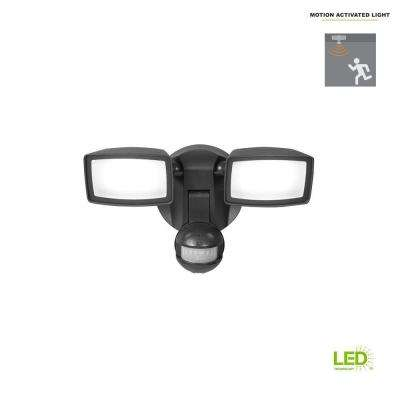 180-Degree Bronze Dual-Position Motion Activated Sensor Outdoor Integrated LED Flood Light