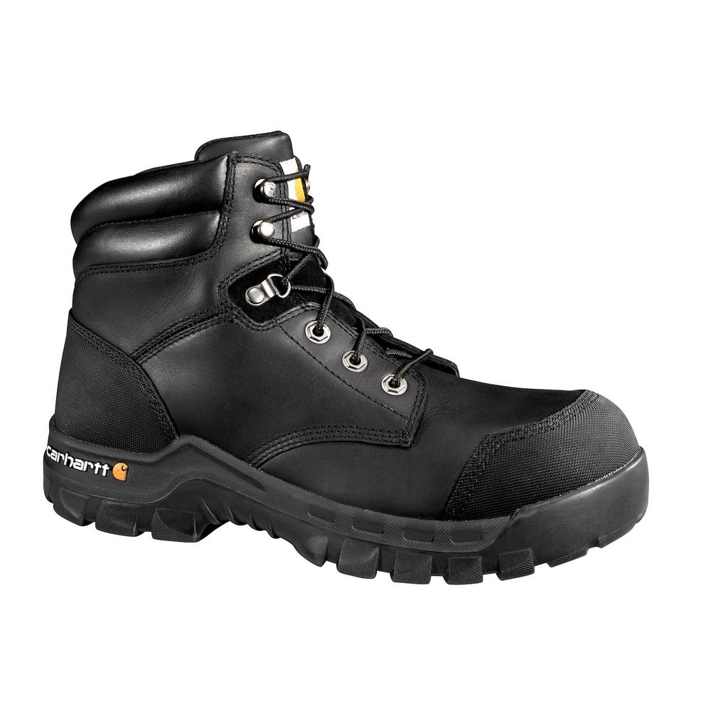 a7b01c93f This review is from:Rugged Flex Men's 12W Black Leather Waterproof  Composite Safety Toe 6 in. Lace-up Work Boot