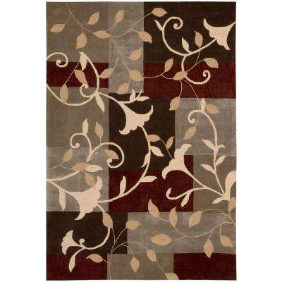 Graphic Floral Mocca 5 ft. x 8 ft. Area Rug